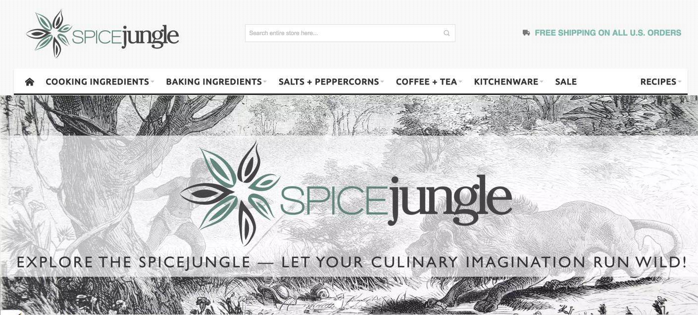 Spice Jungle home page